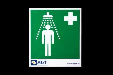 Signalisation autocollante vinyle - douche d'urgence